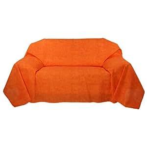 tagesdecke plaid decke berwurf sofa couch mit ko tex pr fsiegel orange marmoriert. Black Bedroom Furniture Sets. Home Design Ideas