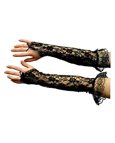 - Ellbogenlange Spitze Handschuhe