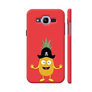 Colorpur Pineapple Pirate with Hat Printed Back Case Cover for Samsung J2 (2016)
