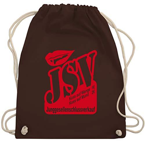 JGA Junggesellenabschied - JSV - Junggesellenschlussverkauf - Unisize - Braun - WM110 - Turnbeutel & Gym Bag