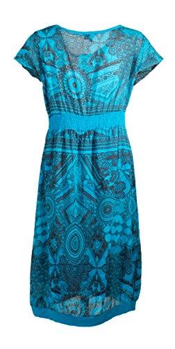 Coline - Robe courte doublée Turquoise