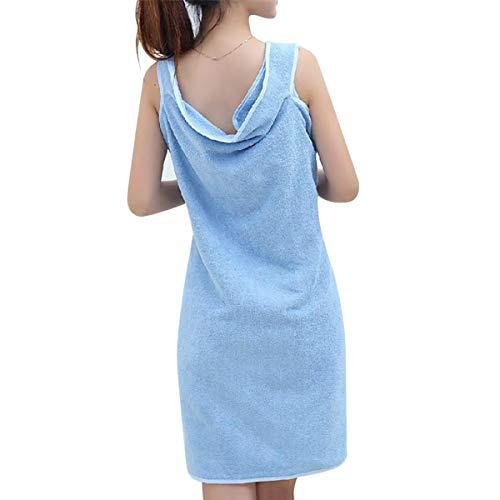 Winter Dong Damen Handtuch Wrap Hair Turban Set Weiche Mikrofaser Tragbare Spa Dusche Bad Wrap Strapless Cover Up Badetuch Schlauch Kleid Bademantel mit elastischer Rückseite
