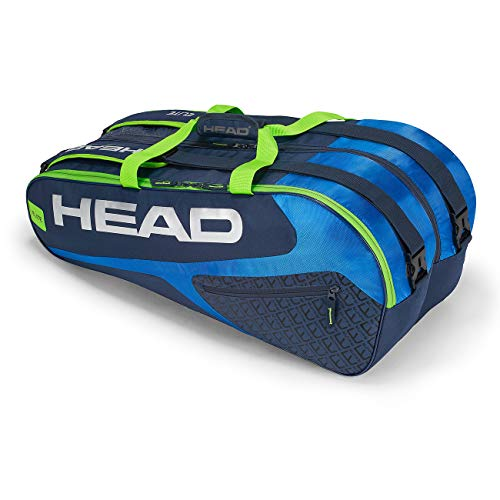 Head Elite 9R Supercombi Portaracchette, Unisex, 283729BLGE, Blue/Green, Taglia Unica