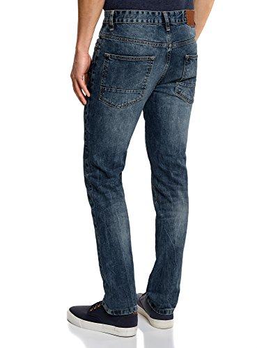 oodji Ultra Homme Jean Slim Basique Bleu (7500W)