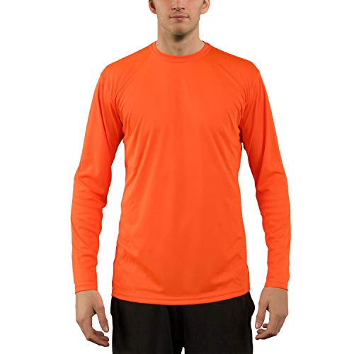 Vapor Apparel Herren UPF 50+ UV Sonnenschutz Langarm Performance T-Shirt L Sicherheits Orange - Aus Langarm-shirt