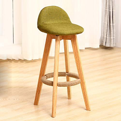 L.BAN 2 pcs Barstühle Barhocker Tresenhocker Arbeitshocker Drehhocker Küchenstühle Mit Rückenlehne, Moderner Stil, Hölzern & Leinen