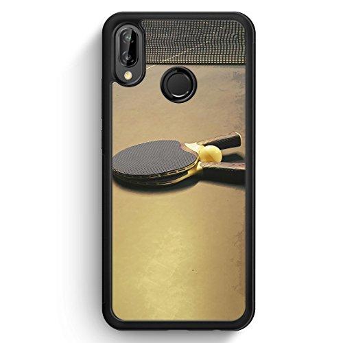 Tischtennis Ping Pong - Silikon Hülle für Huawei P20 Lite - Motiv Design Sport - Handyhülle Schutzhülle Cover Case Schale