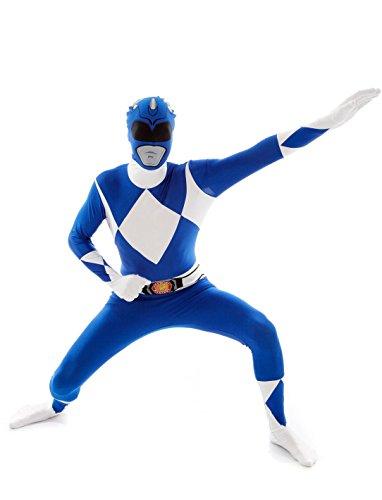 generique Costume seconda pelle Morphsuits Power Rangers blu adulto XXL (da 200 cm)