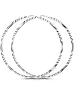 Amberta® 925 Sterling Silber Edle Ringe mit Scharnierbügel – Kleine runde Kreolen Ohrringe - Durchmesse: 7 10...