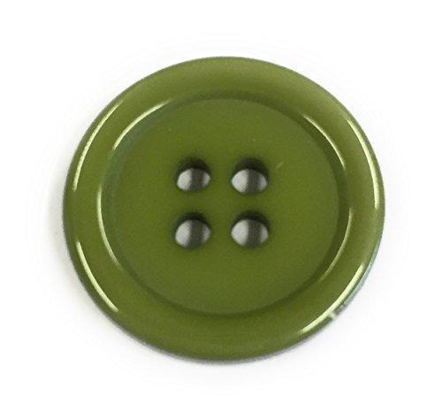 Bastel Express Lot de 15 Boutons en Plastique en Acrylique - Différentes Couleurs et quantités (Vert armé).