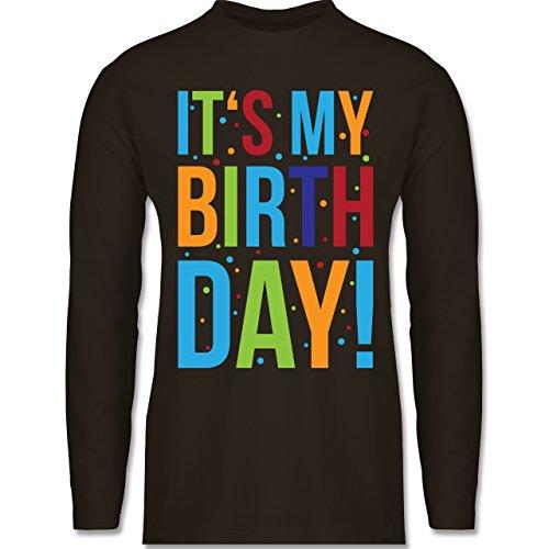Shirtracer Geburtstag - It's My Birthday - Herren Langarmshirt Braun
