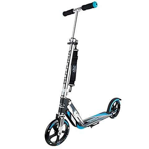 HUDORA Big Wheel 205 Scooter - Tret-Roller, schwarz/blau, 14709