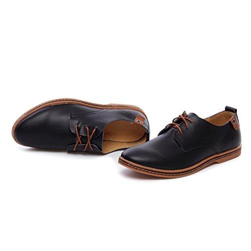 YiJee Hommes Grande Taille Classique Loisir Oxford Chaussures de ville Noir