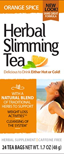 21st Century Health Care, Herbal Slimming Tea, Orange Spice, Caffeine Free, 24 Tea Bags, 1.7 oz (48 g) by 21st Century Health Care