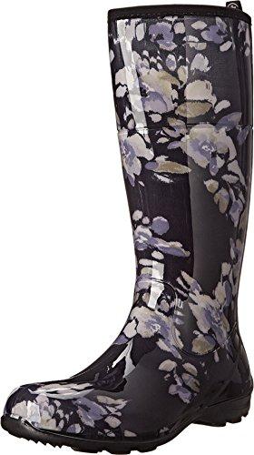 Kamik Jardin Women's Waterproof Rain Boots Floral Print Purple Size 6 - Le Jardin Floral