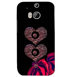 PRINTSWAG HEARTS Designer Back Cover Case for HTC ONE M8