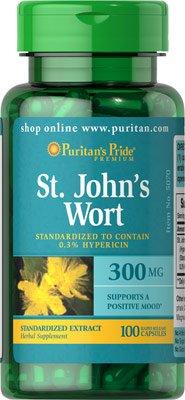 Hypercium (St John's wort,) 300mg Standardized Extract 100Hypercium Capsules from Puritan's Pride
