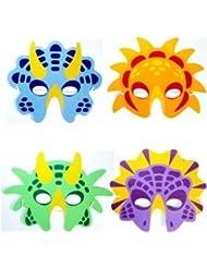 6 dinosaurios antifaz eva certificado relleno piñata