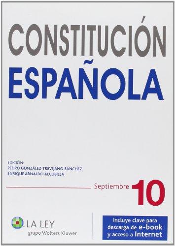 Constitución Española 2010: Septiembre 2010 (Códigos La Ley) por Pedro González-Trevijano Sánchez