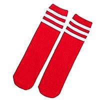 HugeDE Toddlers Kids Stripe Over Knee Soccer Tube Socks Knee High Sports Socks for Girls Boys