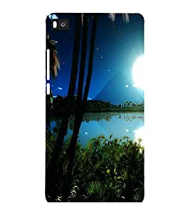 printtech Nature Egypt View Back Case Cover for Huawei Honor P8