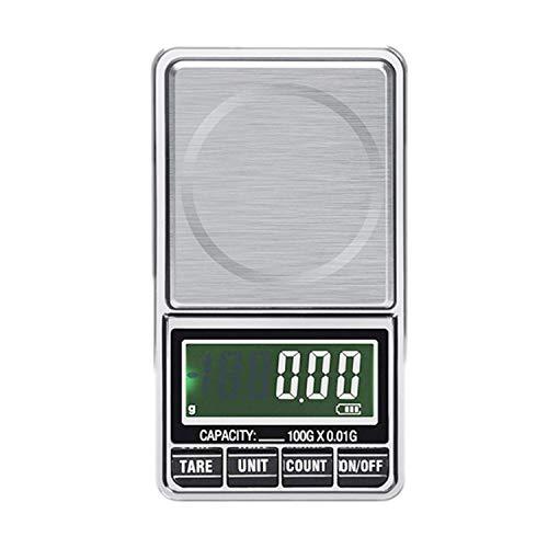 USB Digitale Scala Peso Milligrammo Equilibrio Gioielli Bilancia Elettronica Precisione Tasca Scale Gioielleria Diamantata (600g/0.01g)
