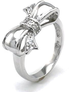 Sterling Silber Zirkonia Unendlich Schleife Ring