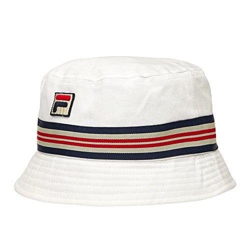 Fila Vintage Casper Bucket Hat In White UKs Neueste Mode Fila Mütze