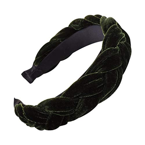 MIRRAY Rockabilly Mode Samt Braid Haarband Frauen Haar Kopf Hoop Sweet Girls Neues Trend Sommer Hair Stirnband Grün