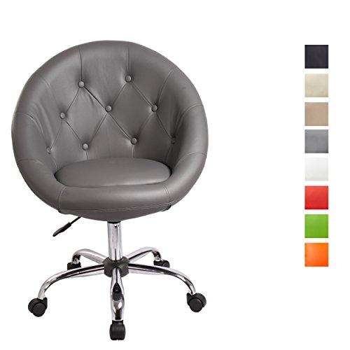 Schicker Rollhocker / Arbeitshocker / Bürostuhl in GRAU - Hocker Drehstuhl TYP 509B