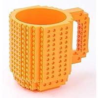 Sunei.f 1Pcs Persönlichkeit zusammengebaute Kaffeebecher Saftschale der Ziegelstein Becher Schale DIY