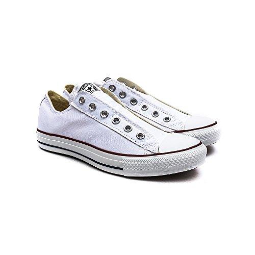 Converse Chuck Taylor All Star Slip On Ox, Baskets mode mixte adulte bianco (Blanc)