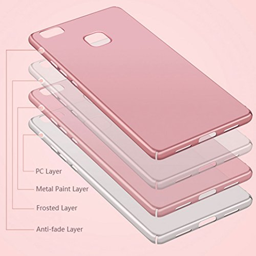 Custodia Huawei P9 Lite, Yoowei® Huawei P9 Lite Cover Alta Qualità Ultra Sottile Piena Protezione PC Shell Duro Retro Custodia per Huawei P9 Lite ...
