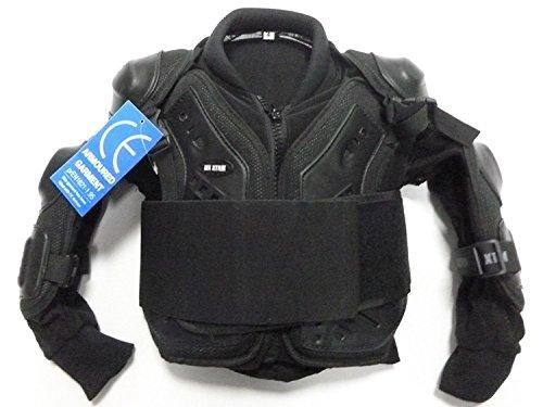 XTRM bambini motocross Armour Junior per bambini off Road protettiva Gear Full deflettore giacca colore nero, Nero, 8