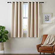 "AmazonBasics Room - Darkening Blackout Curtain Set with Grommets - 245 GSM - 42"" x 63&qu"