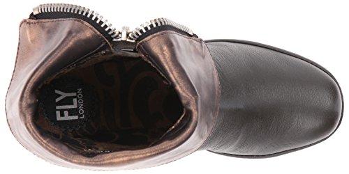 FLY London Damen Yex668fly Kurzschaft Stiefel Grau (Nicotine/bronze 004)