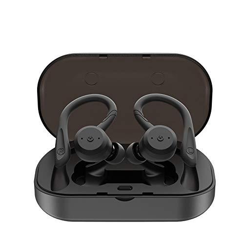 BANNAB True Wireless Earbuds, Bluetooth 5.0 Kopfhörer IPX7 Wasserproof,3D Stereo-Sound, eingebauter Mic Charging Case für IOS und Android,Black - Earbuds Wireless Beats