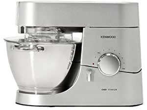 Kenwood KMC010 Robot Chef Titanium - 1400W - 4,6 L - Inox Satiné + Blender AT358
