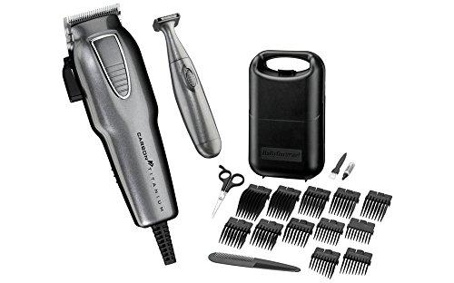 carbon titanium - 41eiXWBpzYL - BaByliss For Men Carbon Titanium Hair Clipper