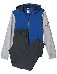 adidas YB TS HOJO FT C - Chándal para niños, color azul / gris