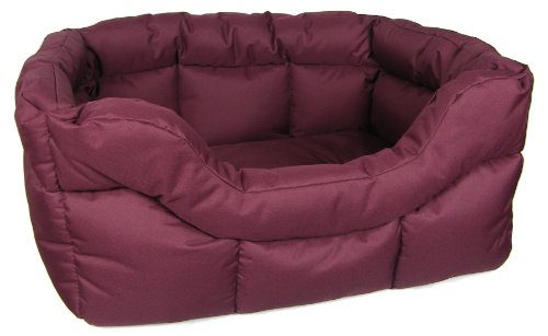 P-L-Superior-Pet-Beds-Heavy-Duty-Rectangular-Waterproof-Softee-Bed-Large-75-x-60-x-27-cm-Burgundy