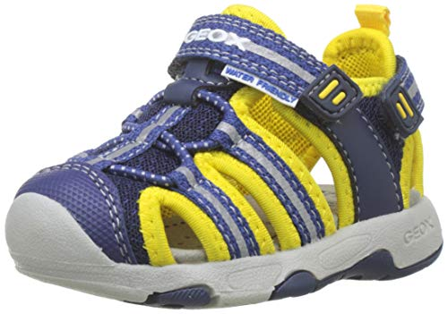 Geox B Sandal Multy Boy B, Sandali Bimbo, Blu (Navy/Yellow C0657), 23 EU