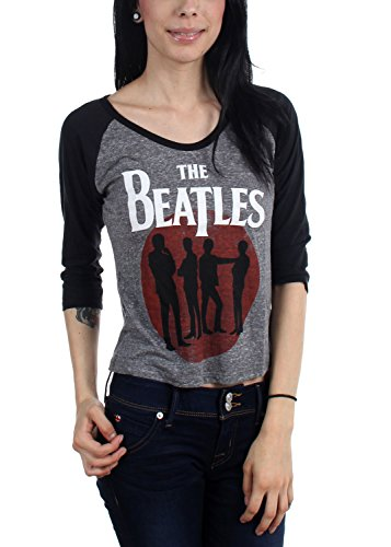 The Beatles-Donna silhouette Raglan Grey Large