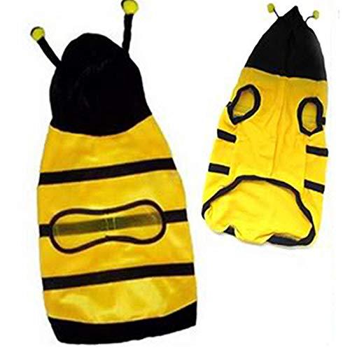 Kostüm Hunde Biene Xl - LIRUI Haustier Maskottchen Hoodie Niedliche Kleidung Für Katzen Phantasie Welpen Kätzchen Bekleidung Kostüm Chihuahua Kleine Katze Hund Mantel Biene Stil Outfit,XL