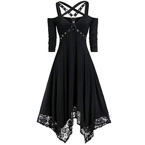 VJGOAL Mujer Moda Halloween Punk Vestido gótico Sexy Fuera del...