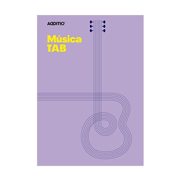 additio Tab–Quaderno di musica per chitarra, colore: Lilla