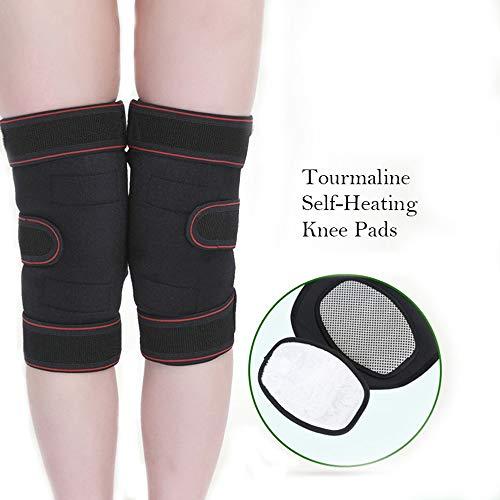 HGBKJUO Wärme Knieschoner,Selbst Heizung Knie Pads,Turmalin Magnetische Schmerzen Relief Knie Unterstützung Klammer Knie Protector Knieschmerzen für Damen, Herren, Senioren -