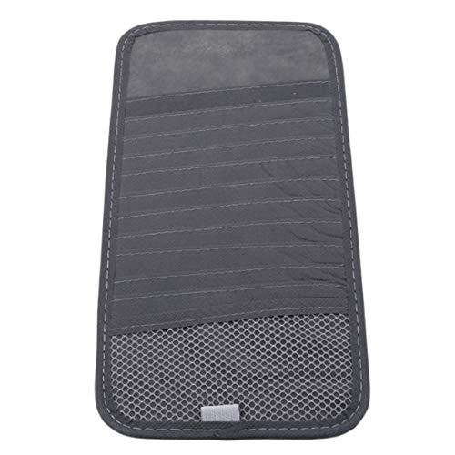 Preisvergleich Produktbild Beafavor Auto CD / DVD Sonnenblende Card Case Disc Storage Organizer Fall Anti Sonnenblende für Auto Universal Zubehör (Grau)