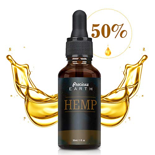 Precious Earth Hemp Oil (15000mg), High Strength Formula, Rich in Omega 3-6-9 & Vitamins, Vegan Friendly, Made in USA