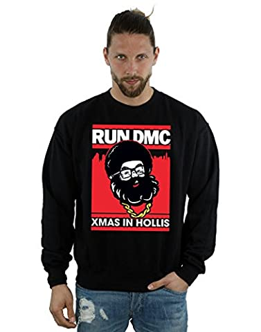 Run DMC Herren Santa Christmas Sweatshirt XX-Large Schwarz